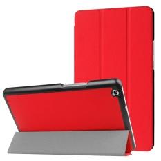 Huawei MediaPad M3 Lite 8.0 Custer Tekstur Horizontal Deformasi Flip Leather Case dengan Tiga-lipat Pemegang dan Sleep/ Wake-up Fungsi (Merah) -Intl