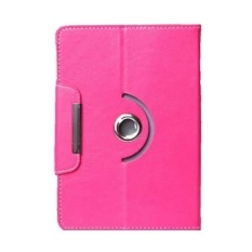 Huawei MediaPad T1 10 Casing 360 Rotate Tablet Cover Case - Rose Red