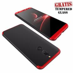 Huawei Nova 2i Armor Full Cover Baby Skin Matte Hard Case Black Red