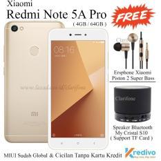 Promo Xiaomi Redmi Note 5A Pro Ram 4Gb Rom 64Gb 4G Lte Gold Dki Jakarta