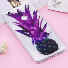 Huawei P8 Lite (2017) IMD Glitter Bubuk Nanas Pola Transparan TPU Cover Back Case-Intl