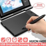 Jual Huion H420 Pro Pad Graphics Drawing Writing Usb Art Tablet Board Mat Digital Pen Intl Di Tiongkok