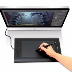 Review Huion H610Pro Menggambar Pen Graphics Tablet With Carrying Bag And Glove