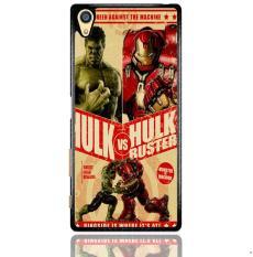 Hulk Vs Hulkbuster Poster Z0741 Sony Xperia Z5 Premium Custom Hard Case