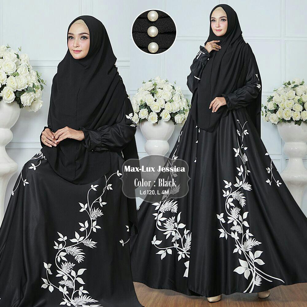 Toko Humaira99 Gamis Syari Jumbo Dress Hijab Muslimah Atasan Wanita Maxmara Lux Xxl Yang Bisa Kredit