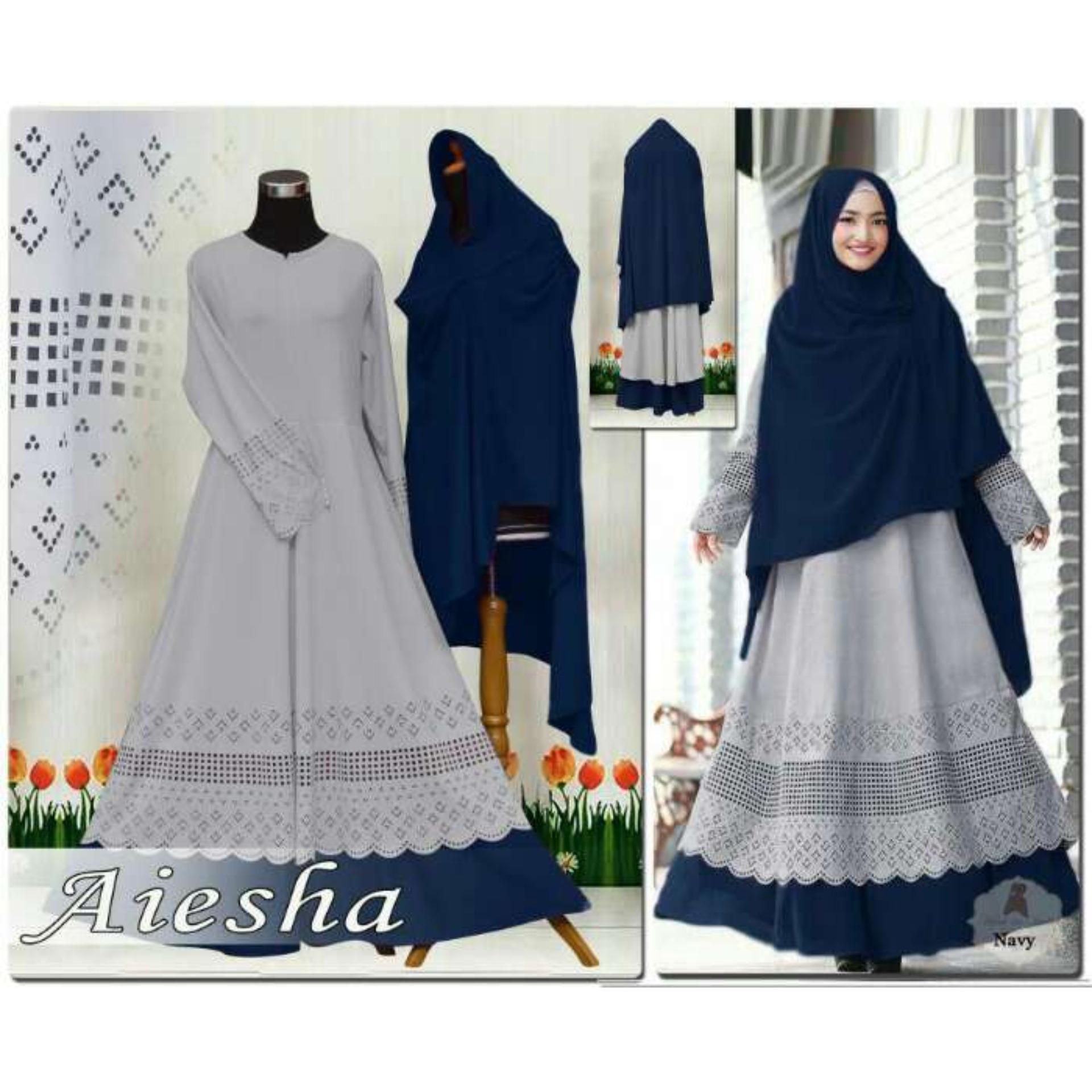 Humaira99 Gamis Syari Muslim Wanita Busui Dress Muslimah Atasan Aiesha Humaira99 Diskon 40