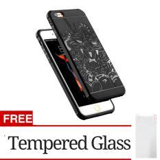 Jual Hunter Cocose Drop Resistance Armor Carved Dragon Silikon Back Case For Apple Iphone 6 6S Black Gratis Tempered Glass Case Original
