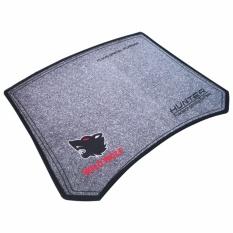 Hunter - Mouse pad Gaming Wild Wolf + Bordir (30x25) - Abu-abu