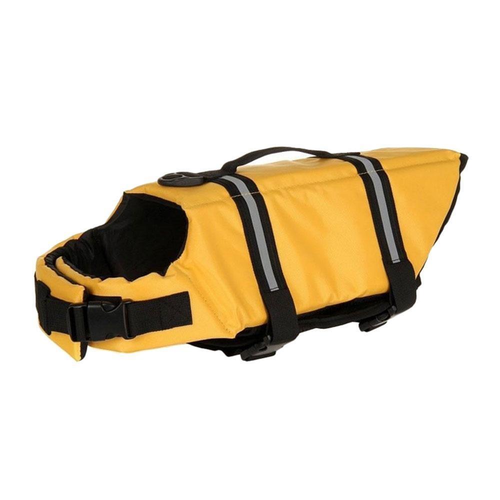 Huohu Dog Safety Life Jaket Mudah-Fit dan Adjustable PET Doggy Saver Pelampung Rompi Pelampung dengan Reflektif Kaset untuk Semua Ukuran Anjing (Kuning, Ukuran XS)-Intl