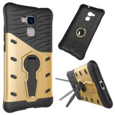 Hybird Armor Back Cover Case With Kickstand For Huawei Honor 5c (Gold) - intl