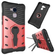 Hybrid Armor Back Cover Case dengan Kickstand untuk Huawei Honor 5C (Merah)-Intl