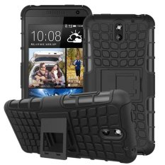 Hybrid Armor Rugged Hard Case Cover Stand Skin For HTC Desire 610 Black - intl