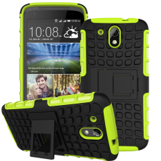 Hybrid Dual Layer Tough Heavy Duty Perlindungan Shockproof Protective Kickstand Cover Case untuk HTC DESIRE 526g/526g +/526/326g Case (Hijau) -Intl