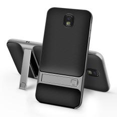 Hybrid Hard Pc Bingkai TPU Pemegang Penyangga Sarung Cover untuk Samsung Galaxy J7 Pro J730-Intl