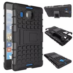 Hybrid PC + TPU Kickstand Back Case for Microsoft Lumia 950 XL (Black)