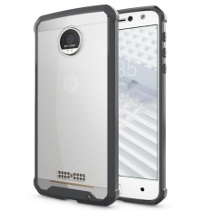 Hybrid Slim Grip TPU Bumper Hard Case Belakang Transparan Penutup untuk Motorola MOTO Z/X4/Z Style Black -Intl