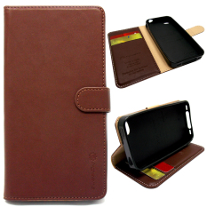 Dapatkan Segera I Gear Flipcover Original Leather For Iphone 5 Bahan Kulit Cokelat