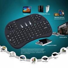 I8 2.4ghz hitam Inggris versi Mini nirkabel Touchpad Keyboard untuk Android TV