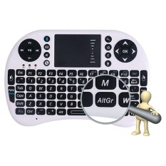 I8 Bluetooth Wireless Keyboard With Touchpad And Mouse For iPhone iPad Macbook Samsung iOS/ Android White - intl
