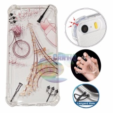 Icantiq Case Anti Crack 3D  Oppo F1S A59 Case Luxury Animasi Vintage Eiffel Paris Softcase Anti Jamur Air Case 0.3mm / Silicone  Oppo F1S A59 / Soft Case / Silikon Anti Shock / Case Hp / Case 3D / Anti Crack Gambar / Case Unik - 2