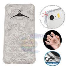 Icantiq Case Anti Crack 3D Oppo F1S A59 Case Luxury Wedding Dress Softcase Anti Jamur Air Case 0.3mm / Silicone Oppo F1S A59 / Soft Case / Silikon Anti Shock / Case Hp / Case 3D / Anti Crack Gambar / Case Unik - 2