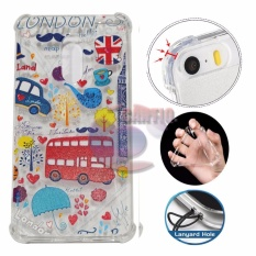 Icantiq Case Anti Crack 3D Xiaomi Redmi Note 4 Case Luxury Animasi London Bus Softcase Anti Jamur A