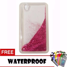 Icantiq Case Oppo A37 Neo 9 Softshell Water Glitter Soft Back Case / Sillicone Blink Blink Gliter / Casing HP Glitter Skin Case / Jelly case / Case Oppo A37 Neo 9 + Free Water Proof Case / Ultrathin - Pink