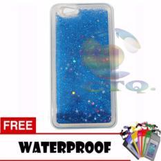 Icantiq Case Oppo F1S Selfie Expert A59 Softcase Water Glitter Soft Back Case / Sillicone Blink Blink Gliter / Casing HP Glitter Skin Case / Jelly case / Case  Oppo F1S Selfie Expert A59 + Free Water Proof Case / Ultrathin - Sky Blue / Biru
