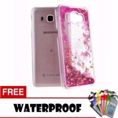 Icantiq Case Samsung Galaxy J1 Ace J110 Softcase Water Glitter Soft Back Case / Sillicone Blink Blink Gliter / Casing HP Glitter Skin Case / Jelly case / Case Samsung Galaxy J1 Ace J110 + Free Water Proof Case - Pink