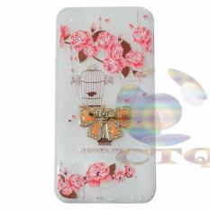 Icantiq Case Vivo Y55 Softshell Luxury Diamond Animasi Vintage Sangkar Burung + Holder Ring Pita Soft Case / Soft Back Case / Sillicone / Casing Handphone / Casing HP / Case Vivo Y55  / Case Unik - 5