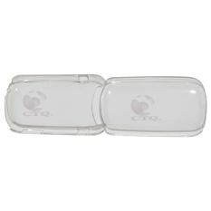 Icantiq  Back cover E1272 Hardcase Samsung Caramel GT-E1272 Back Case Samsung E1272 - Transparant White