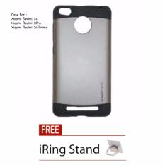 iCase Hardcase Slim Armor Redmi 3s / Redmi 3 Pro / Redmi 3 Prime  - Abu + Free iRing