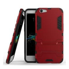 iCase Sniper Armor Dual Layered TPU+PC Hybrid Back Cover Phone Case with 360 Kickstand for OPPO F1S / A59 - Merah