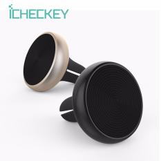 Spesifikasi Icheckey Air Vent Magnetic Car Mount Holder Stylish Universal Cell Phone Cradle For Iphone Samsung Xiaomi Opoo Anyphone Black Online