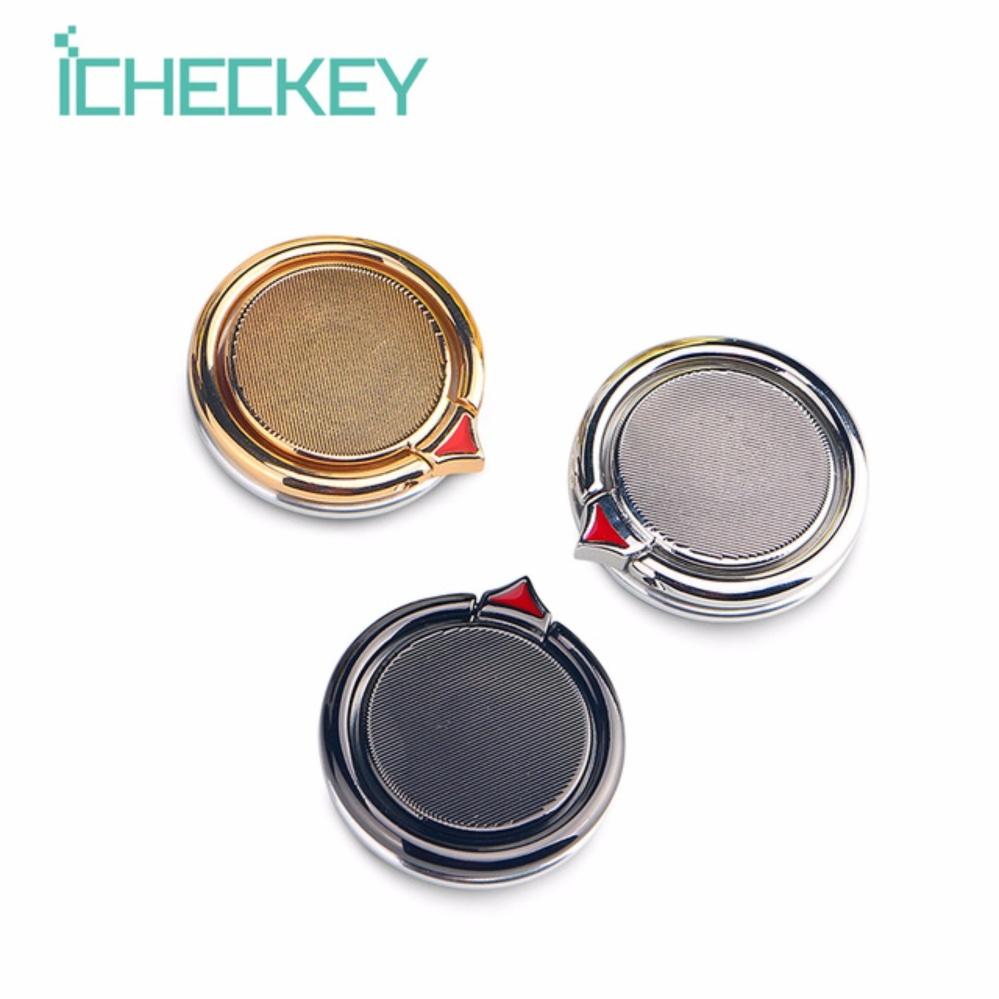 Beli Icheckey Premium Fidget Spinner Ring Holder Spinner Ring Stand 360 Degree Rotation Mobile Phone Ring Holder Online Terpercaya