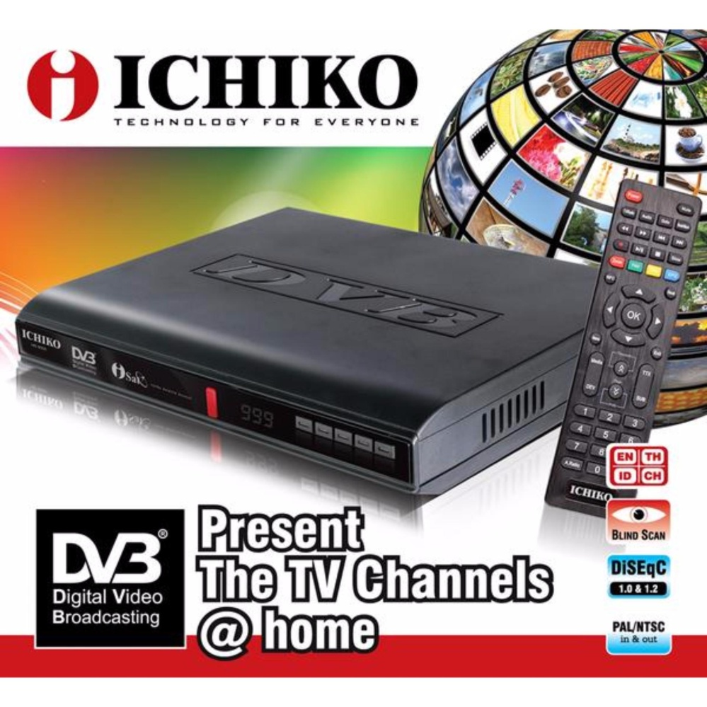 ... Ichiko 8000HD Set Top Box DVB-T2 TV Digital - Receiver TV Digital