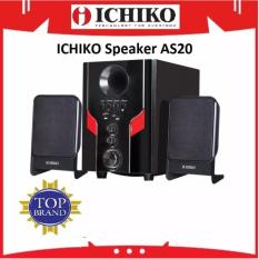 Ichiko Model AS20 Multimedia Bluetooth Speaker - Hitam garansi resmi
