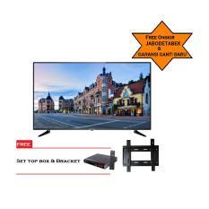 ICHIKO SMART TV LED 65inch Ultra HD 4K (model ST6596) Free Bracket dan STB T2