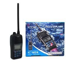 Icom IC-M24 HT VHF Marine Transceiver - Hitam