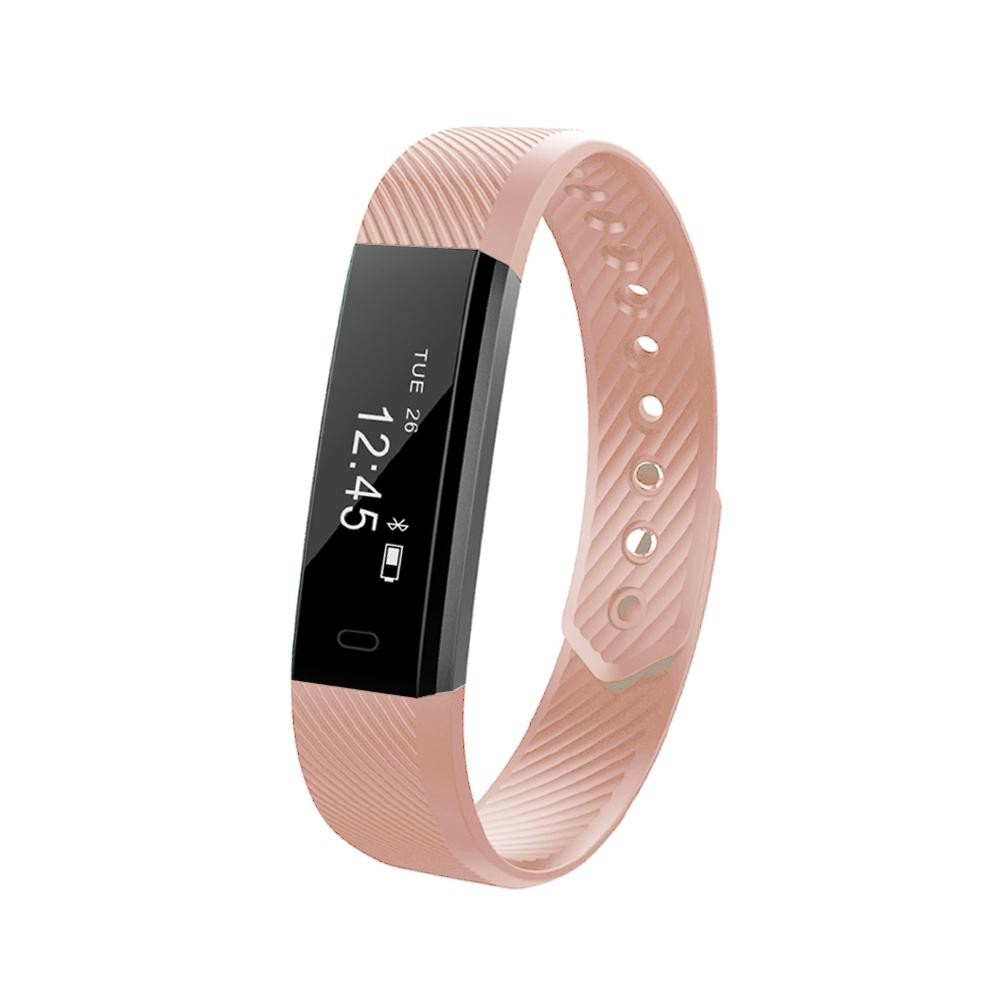 ID115 Smart Band 0.86inch OLED Screen Bluetooth Wristband Step Pedometer Calorie Burnt Automatic Sleep Monitoring Call/Message Alert Alarm Clock Anti-lost Remote Camera Control Activity Data Sharing Sports Bracelet for iPhone Samsung iOS Android - intl