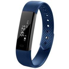 Id115 Smart Gelang Kebugaran Tracker Pedometer Tidur Monitor Gelang Call Kalori Smart Band Watch Untuk Ios Android Pk Mi 2 Intl Original