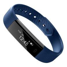 ID115 Gelang Bluetooth Smart Gelang Pedometer Kebugaran Pelacak Langkah Counter Sleep Monitor Sport
