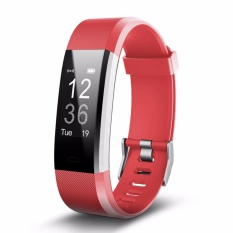 Id115plus Bluetooth Gelang Pintar Heart Rate Monitor Sport Kebugaran Tracker untuk IPhone Android Smartphone-Intl