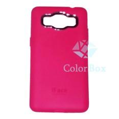 iFace Samsung Galaxy J1 J100 Softshell / Softcase Samsung J1 / Casing Samsung J1 / Casing HP - Pink Tua