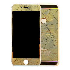 iGear Tempered Glass Protector Diamond Motif For iPhone SE / 5S / 5 - Gold