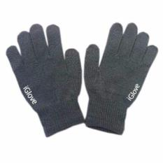 iGlove Sarung Tangan Touch Screen Untuk Smartphones & Tablet - Abu-abu gelap