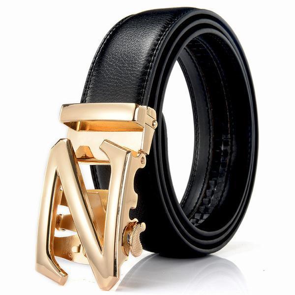 Ikat Pinggang Kulit Model Z Black Gold Original