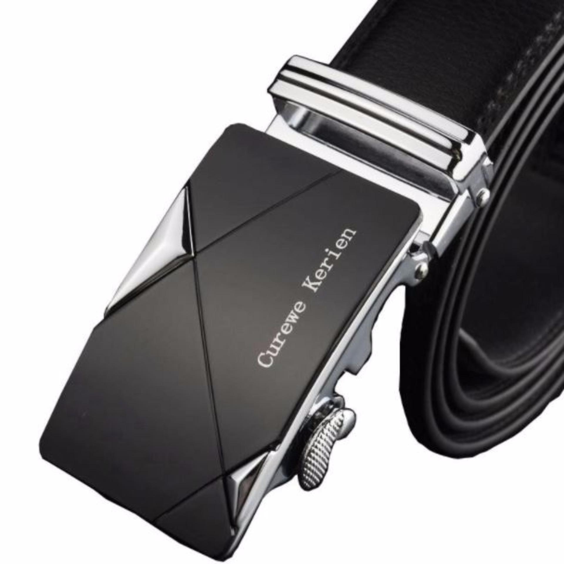 Harga Ikat Pinggang Pria Belt Sabuk Gesper Metal Buckle Kulit Ck001 New