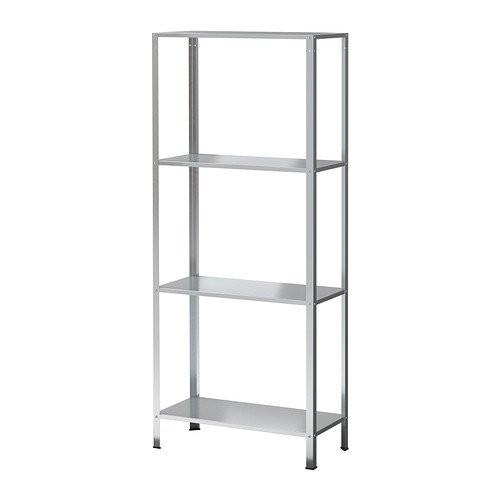 IKEA Hyliss Unit Rak Dalam / Luar Ruang Bergalvani - Silver