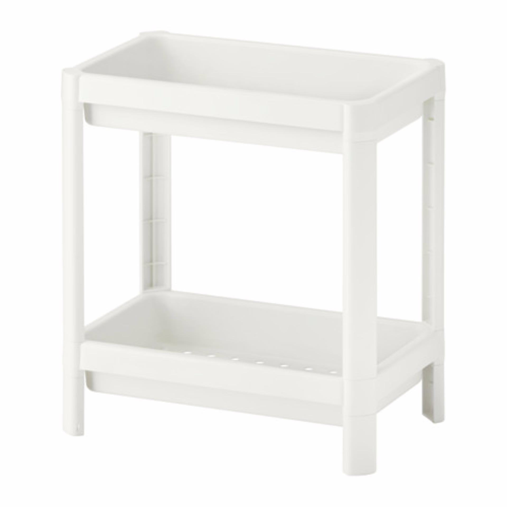Harga Ikea Vesken Rak Serbaguna 2 Susun Putih Origin